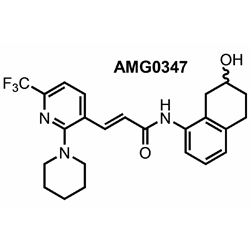 Chemical structure of compound AMG0347, Amgen, Inc.